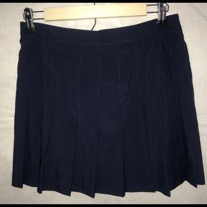 Navy Blue Pleated School Girl Mini Skirt Size 12